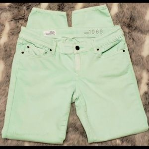 GAP ALWAYS SKINNY JEANS 1969 GREAT MINT COLOR